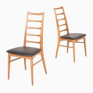 Dänische Mid-Century Eiche Stühle von Niels Koefoed für Kofoeds Møbelfabrik, 1950er, 8er Set