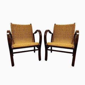Papercord Sessel von Vroom & Dreesman, 1950er, 2er Set