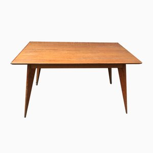 Scandinavian Dining Table with Compass Feet & Extensions, 1950s