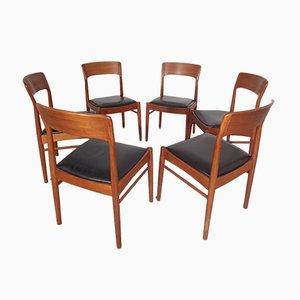 Chaises de Salon en Teck par Henning Kjærnulf pour Korup Stolefabrik, Danemark, 1960s, Set de 6