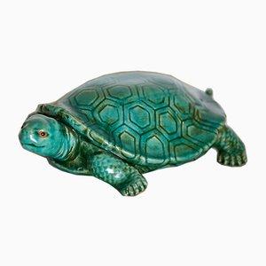 Große Schildkröte aus Keramik, Italien, 1950er