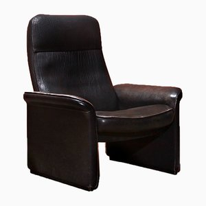 Vintage Black Leather Adjustable Model DS-50 Lounge Chair from de Sede, 1970s