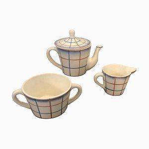 Servizio da tè Art Déco in ceramica di Gio Ponti per Richard Ginori, anni '30, set di 3