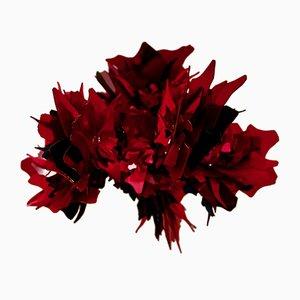 Spektakuläre rote Glas Kronleuchter Skulptur, 2008