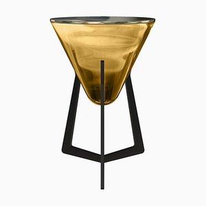 Bernstein Bernsteinfarbener Beistelltisch von Stefan Seidel für Aguti Design