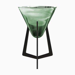 Smaragdgrüner Beistelltisch ohne Tischplatte von Stefan Seidel für Aguti Design