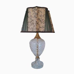 Vintage Tischlampe aus Kristallglas