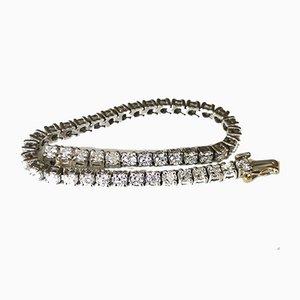 Bracelet Platine Flexible orné d'une ligne de 44 Diamants Taille Brillante