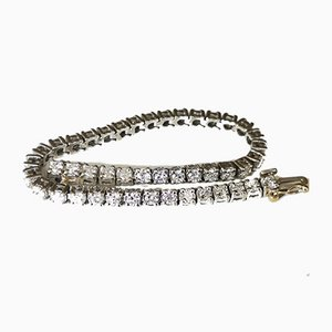 Flexibles Platin-Armband mit 44 Diamanten im Brillantschliff