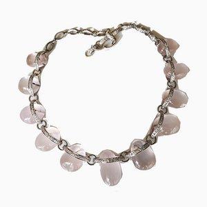 Gold Necklace 18k Quartz Diamonds