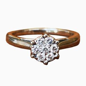 Ring in Weißgold 750 18 Karat mit Diamanten