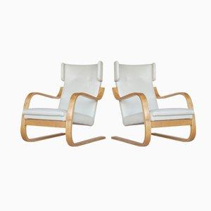 Modell 401 Lehnstühle von Alvar Aalto, 1935, 2er Set