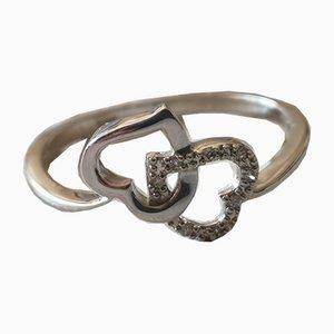 Ring Hearts 18 Karat Gold und Diamanten