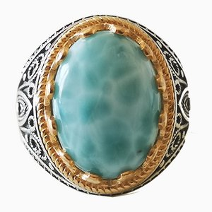 Silver Ring Larimar and Around 20 kts