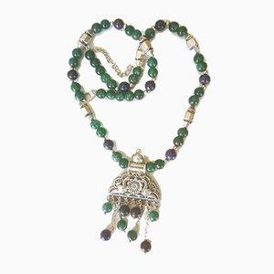 Aventurin und Lapis Lazuli in Form einer Halskette aus Silber