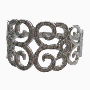 Graugoldener Ring von 375/1000 mit Diamanten