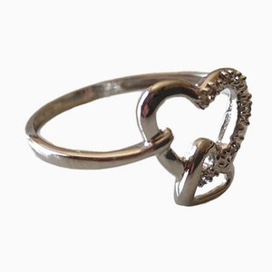 Gold Heart Ring 18k Diamond
