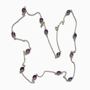 Necklace in Silver and Amethyst