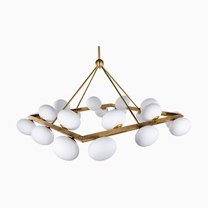 Vintage Brass 20-Light Ceiling Lamp