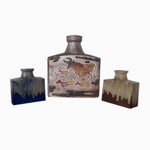 Vases Montignac 281-39 & 281-19 en Céramique de Scheurich, 1960s, Set de 3