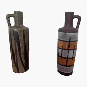 980 Ceramic Vases from Strehla, East Germany, 1960s, Set of 2