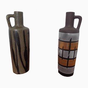 980 Ceramic Vases from Strehla, East Germany, 1960s, Set of 2