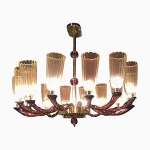 Handicraft Murano Glass Chandelier, Italy, 1990s