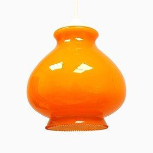 Orange Opalglas Pop Lampe, 1960er
