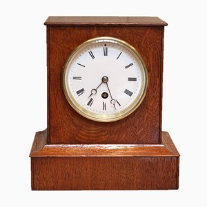 Antique Golden Oak Mantel Clock by Arnold & Frodsham