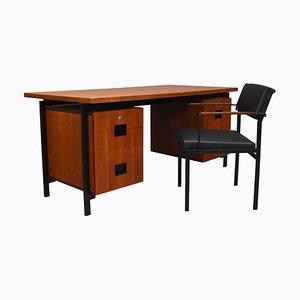 Bureau et Chaise Model EU02 Série Japonaise en Teck par Cees Braakman pour Pastoe, 1950s, Set de 2