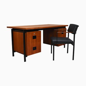 Model EU02 Japanese Series Desk & Chair in Teak by Cees Braakman for Pastoe, 1950s, Set of 2