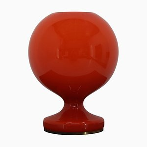 Lampe de Bureau Rouge en Verre par Stefan Tabery, 1960s