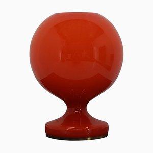 Rote Glas Tischlampe von Stefan Tabery, 1960er