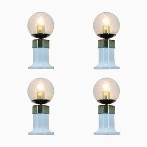 Mid-Century Tischlampen von Jaroslav Bejvl für Kamenicky Senov, 1970er, 4er Set