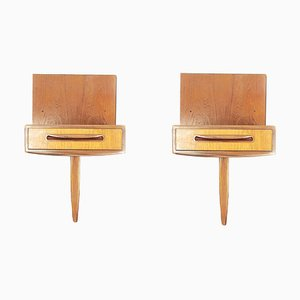 Mid-Century Fresco Teak Floating Nightstands from G-Plan, 1960s, Set of 2