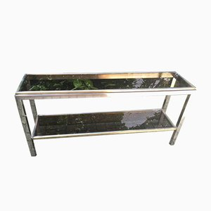 Table Console Double Plateau Vintage par Willy Rizzo