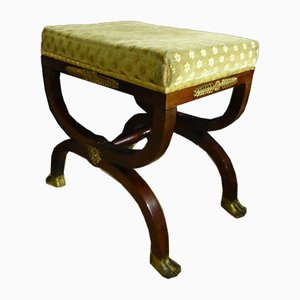 Tabouret Antique Curcule de Style Empire
