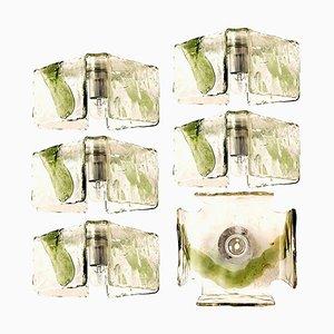 Grüne Mundgeblasene oder Wandleuchte von JT Kalmar, 1960er