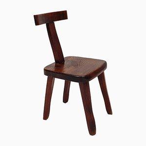 Brutalistische Skulpturale Stühle aus Ulmenholz von Olavi Hänninen für Mikko Nupponen, Finnland, 1950er, 6er Set