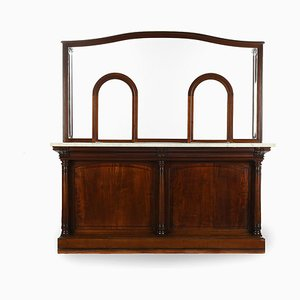 Bank Counter in Mahogany, 1920s
