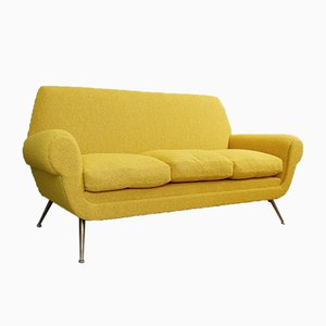 Curry-Colored 3-Seat Sofa by Gigi Radice for Minotti, 1950s