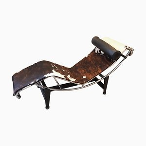 LC4 Cowskin Chaise Lounge by Charlotte Perriand for Cassina, 1990s