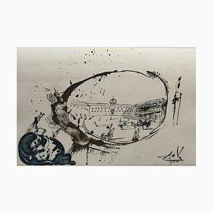 La Vision du Paradis Engraving by Salvador Dali, 1970s