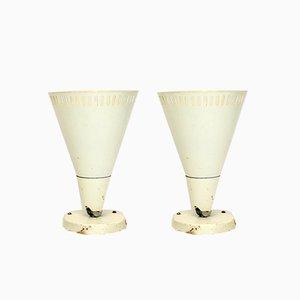Industrielle Wandlampen, 1950er, 2er Set