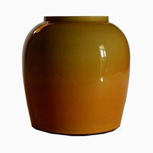 Ochre Yellow Murano Venini Vase, Italy, 1970s