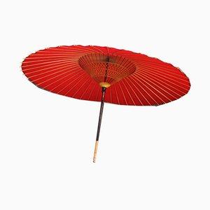 Large Japanese Red Parasol, 1980s