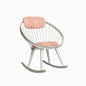 Rocking Chair Circle par Yngve Ekström pour Stol AB Sweden, 1950s