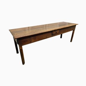18th Century Oak and Elm Long Farmhouse Dining Table