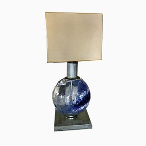 Large Glass Globe Table Lamp from Lumica, 1970s