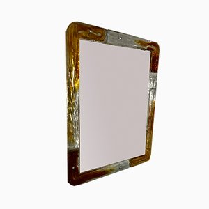 Glass Mirror from Mazzega, 1980s